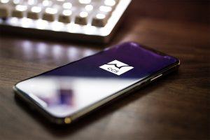 Handy mit Logo der CCS App