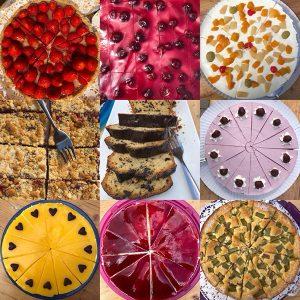 Verschiedene Kuchensorten