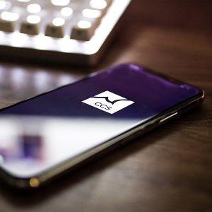 Handy mit Logo CCS