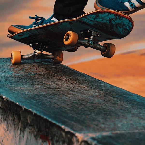 Skater beim Crinden
