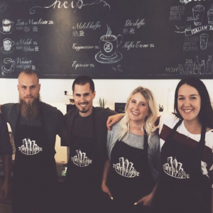 Vier Mitarbeiter der Coffeebar Siegen