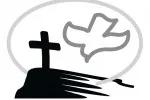 Logo mit Taube und Kreuz