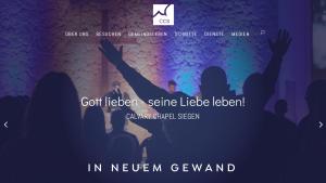 Calvary Chapel Siegen Webseite in neuem Gewand
